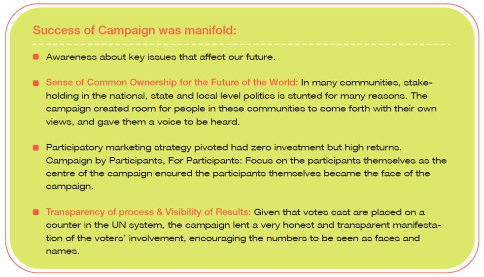 Success of campaign was manifold