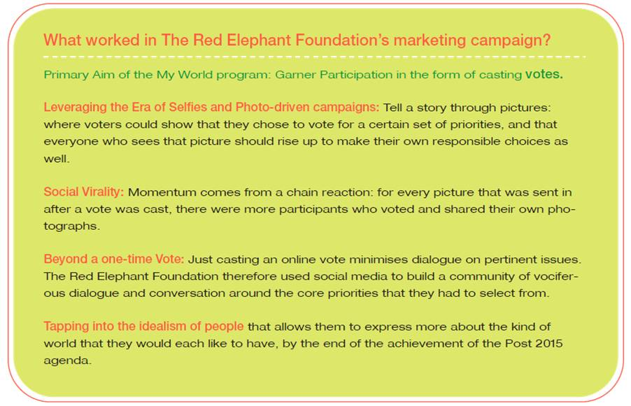 What worked in the Red Elephant Foundation's marketing campaign