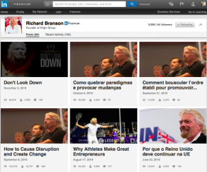 Richard Branson - Thought Leader & LInkedIn Influencer